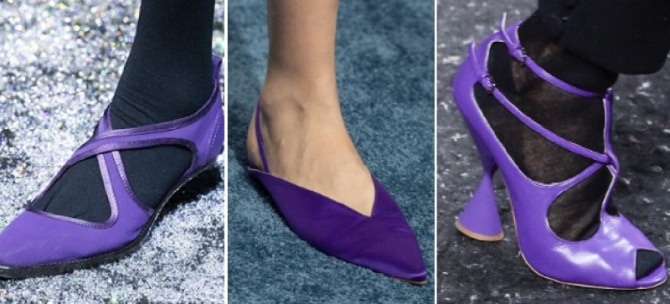 Women's Violet Shoes Fashion Trends For Spring-Summer 2020