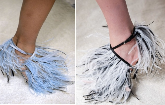 Women's Shoes Fashion Trends For Spring Summer 2020 With Feathers Decor